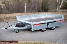 BRIAN JAMES TRAILERS Remorque Plateau-Ridelles CONNECT COMPACT